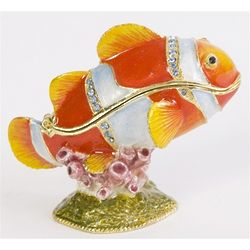 Tropical Clown Fish Trinket Box