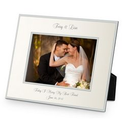 Flat Iron Champagne Landscape Picture Frame