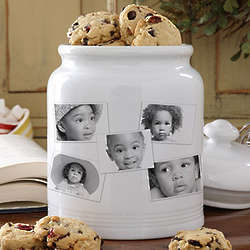 Photo Collage Personalized Cookie Jar