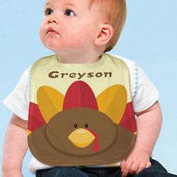 Personalized Turkey Baby Bib