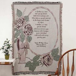 My Mother, My Friend Personalized Tapestry Afghan
