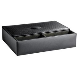 Men's Leather Jewelry Box and Watch Valet in Brown or Black