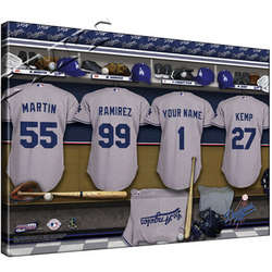 Personalized Canvas MLB National League Locker Room Print