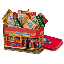 Chocolate Squares Cable Car Gift Tin