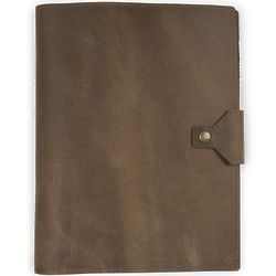 Executive Leather Padfolio with Snap Closure