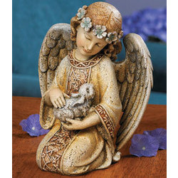 Kneeling Angel With Rabbit