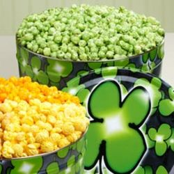 2 Gallon Green Butter Popcorn Tin