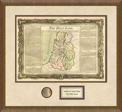 Holy Land Framed Map