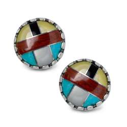Multi-Channel Button Earrings