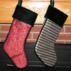 Personalized Metalic Strip Christmas Stocking