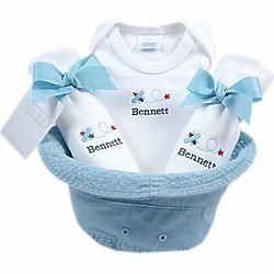 Baby Boy Bucket Hat Gift Basket
