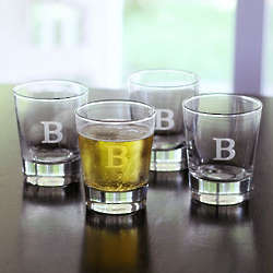 Engraved Double Old-Fashioned Drinking Glasses