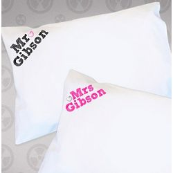 Personalized Mr & Mrs Pillowcases