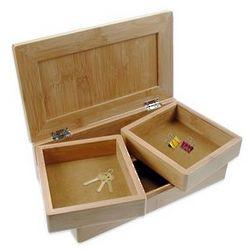 Personalized Bamboo Desktop Treasure Box