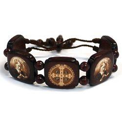 St. Benedict Wood Bracelet