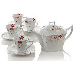 Red Bloom Teapot Set