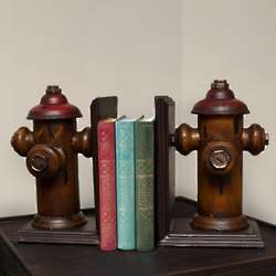 Rustic Tin Fire Hydrant Bookends