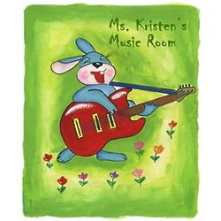 Musical Rabbit Personalized Poster