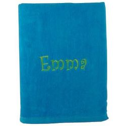 Aqua Personalized Beach Towel