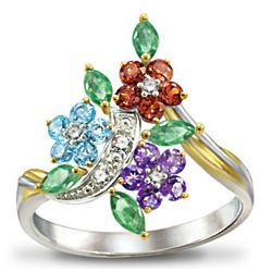 Path of Inspiration Floral Diamond Ring