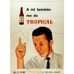 Cerveza Tropical Beer Vintage Cuban Ad Poster
