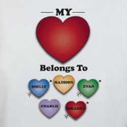 Personalized My Heart Belongs to Sweatshirt