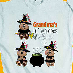 Personalized Lil' Witches Halloween Sweatshirt