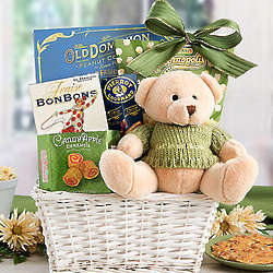 Get Well Teddy Bear Gift Basket