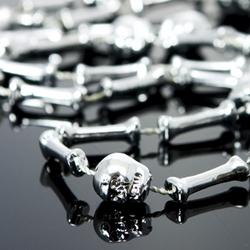 Skull & Bones Mardi Gras Beads