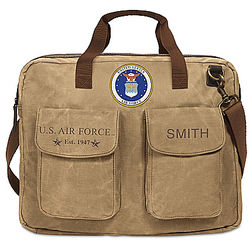 US Air Force Personalized Canvas Messenger Tote Bag