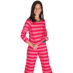 Silly Stripe Pajamas for Girls