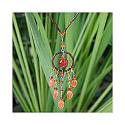 'Orange Dreamcatcher' Carnelian Necklace