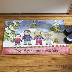 Winter Family Doormat