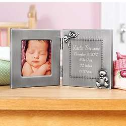 Personalized Pewter Birth Photo Frame