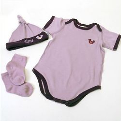 Personalized Baby Girl Organic Layette Set