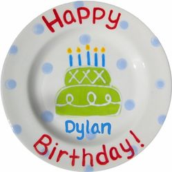 Personalized Ceramic Birthday Plate