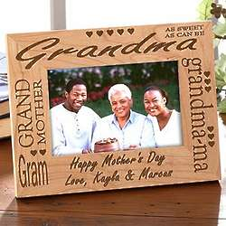 Personalized Wood Picture Frame for Grandma