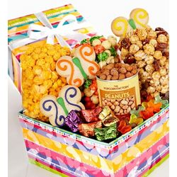 Popcorn and Snack Sampler Butterfly Design
