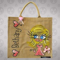 Personalized Large Jute Bag