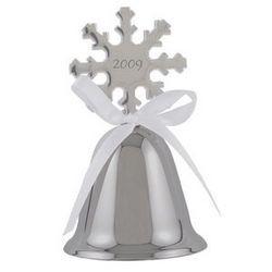 Personalized Silver Snowflake Bell