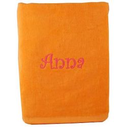 Orange Personalized Beach Towel