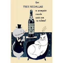 Ron Matuzalem Rum Vintage Cuban Ad Poster