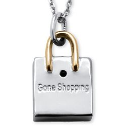 Shopaholic Shopping Bag Pendant