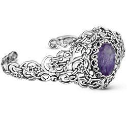 Changing Seasons Charoite Small Cuff Bracelet