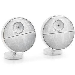 Star Wars Cufflinks Death Star Blue Print