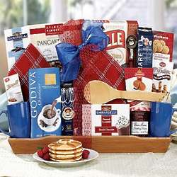 Coffee and Pancakes Breakfast Gift Basket