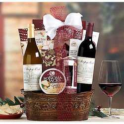 Sleepy Oak Chardonnay and Cabernet Duet Gift Basket