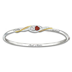 Personalized Two Hearts Become Soul Mates Bracelet