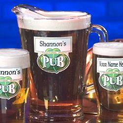 Personalized Traditional Irish Pub Pitcher