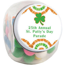 St. Patrick's Day Personalized Bunting Candy Jars